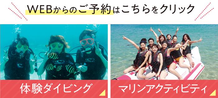 マリンアクティビティ・体験ダイビング予約サイトへ